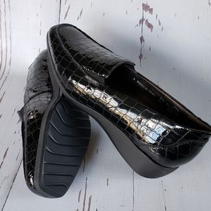 Mephisto new loafers croc embossed woman 10 black